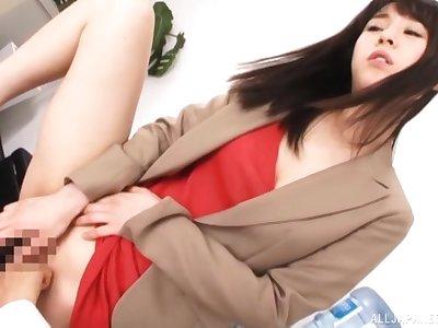 Incomparable Japanese amateur Kitagawa Yuzu gives hound increased by eats cum