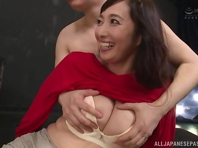 Otowa Ayako uses every opportunity to reach an amazing orgasm