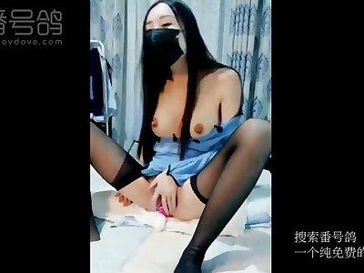Hot asian chick amazing webcam sex video