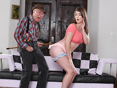 Teen Shows Love To Senior Man